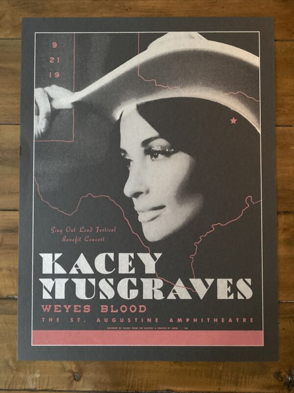 Kacey Musgraves St Augustine THE AMP limited Edition Concert Poster #44 of 90