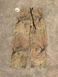 Mossy Oak Walkers Lake Fleece Pant, Men's Large, Brush Camo