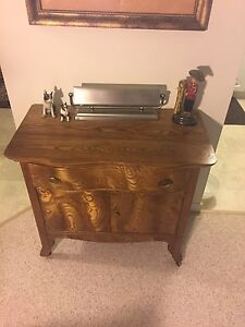 Antique tiger wood wash stand