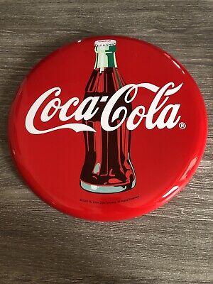 Large Circular Coca Cola Brand Metal Sign 2003