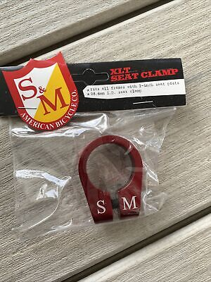 S/&M Xlt Seat Clamp Red 30.0mm