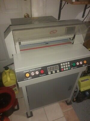 17.7 450mm Electric Automatic Paper Cutter 450 Vs For Parts Broken.