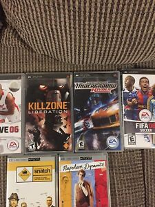 PSP UMD Games and Movie disks
