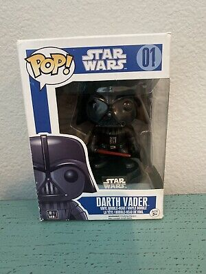 Funko Pop Original Star Wars Darth Vader #01 - Large Letter Blue Box