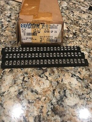 Marathon Kulka 670a Gp 21 Terminal Block Wiring Strip Junction 250v15a Lot 6 Pcs