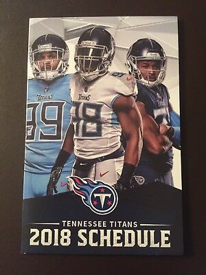 Tennessee Titans 2018 NFL pocket schedule - Coca-Cola