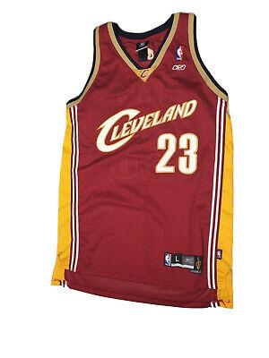 Reebok NBA Authentics Cleveland Cavaliers #23 Lebron James Jersey Sz Large #t182