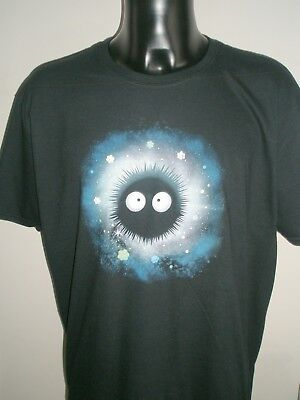 Qwertee Soot Sprite Ghibli Mens T Shirt Gildan Extra Large Black Cotton xl for sale  Bristol