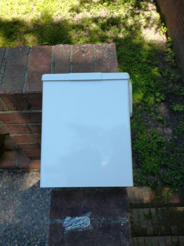 Continental HK250W Sanitary Napkin Receptacle White Steel w/Mounting Hardware