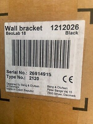 Bang & Olufsen Beolab 18 Wall Brackets - Black - New!