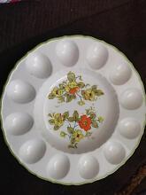 Vintage ceramic devilled egg and relish platter Millswood Unley Area Preview
