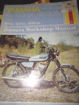 YAMAHA RS100 / RS125 SINGLES MANUAL  1974 ON