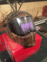 Snap-on welding helmet