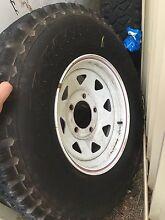 Toyota landcruiser 79 5 stud wheels with Dunlop tyres 85% Regents Park Auburn Area Preview