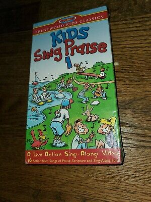 Kids Sing Praise 1 VHS Brentwood 2000 Christian  Singalong Wanna Rejoice New (Brentwood Kids)