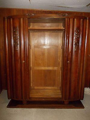 Jugendstil Art Deco Garderobenschrank, Garderobe, Kleiderschrank  wohnfertig