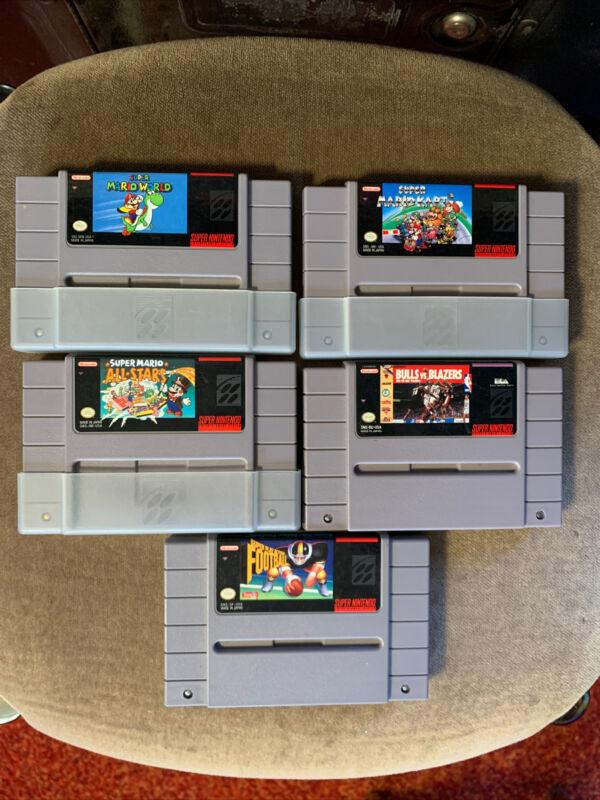 SNES 10 Games Lot Mario