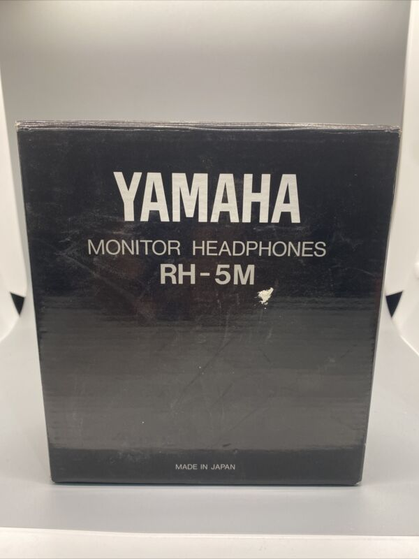 Yamaha RH-5M Original 1990s Vintage Stereo Monitor Headphones With Box