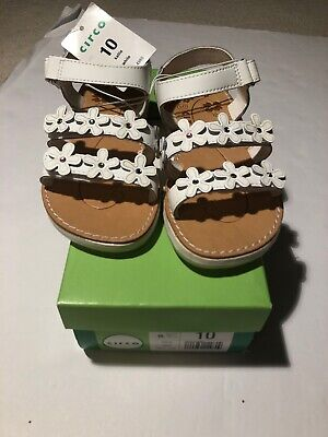 Flower Girls Shoes White (New! Circo Girls Kallie White Flower Shoes - size 10 - free shipping)