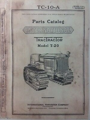 T-20 International Tractractor Crawler Tractor Owner Service Parts 3 Manuals