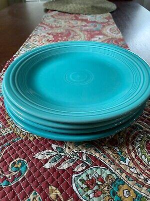 Fiestaware  Fiesta Turquoise 10 1/2 In Dinner Plate Set Of 4 USED