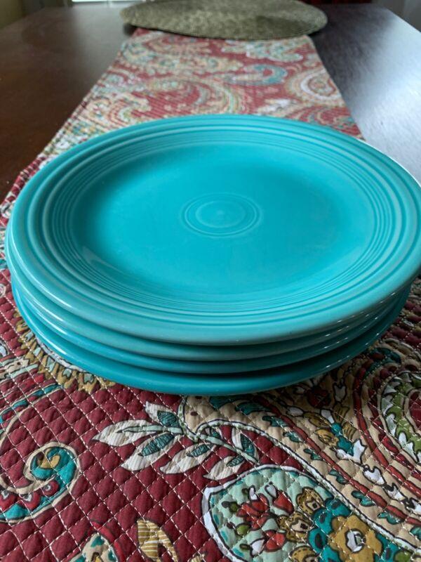 Fiestaware  Fiesta Turquoise 10 1/2 In Dinner Plate Set Of 4