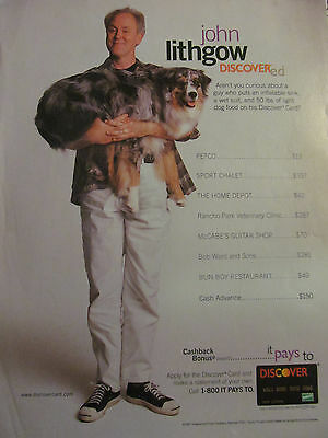 John Lithgow  Discover Card  Full Page Ad