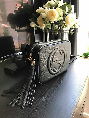 Gucci Soho Disco Black Leather Bag Excellent Condition