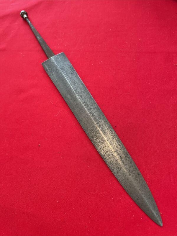 RARE WW2  DAGGER BLADE (HUGO BERNS)maker. UNSHARPENED W/pommel nut.Unknown date.