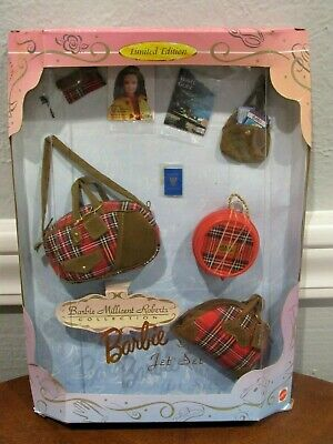 """NEW 1997 BARBIE MILLICENT ROBERTS COLLECTION """"JET SET"""" FASHION LUGGAGE - NRFB"""