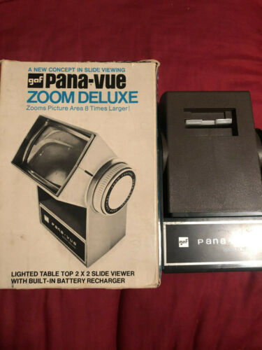 GAF PANA-VUE 2x2 Zoom Viewer with Box - Good Condition