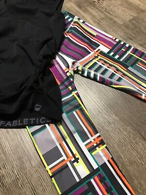 New Fabletics Outfit, Crop Pants Leggings And Top Size XS