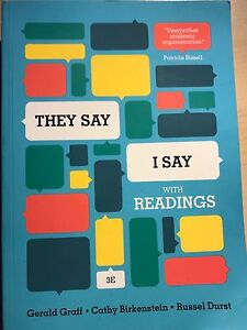 """They Say I Say"" 3rd Edition Book with Readings Edmonton Edmonton Area image 1"
