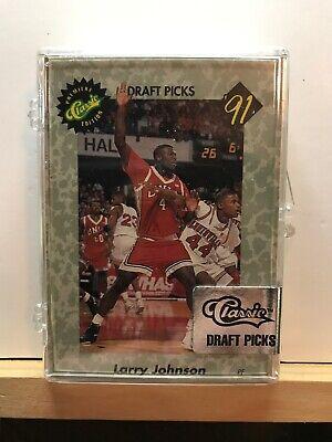 1991 Classic Draft Picks Limited Edition New Basketball Set Larry Johnson + COA ()