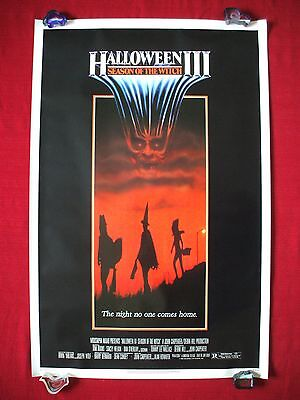 HALLOWEEN 3 III * 1982 ORIGINAL MOVIE POSTER 1SH ROLLED SEASON OF THE WITCH MASK (Halloween The Movie Mask Origin)