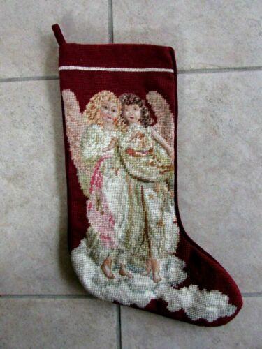 Needlepoint Christmas Stocking Angels Imperial Elegance