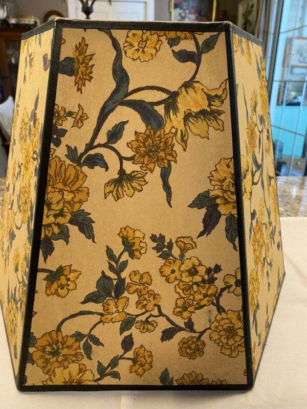 Vintage Floral Hexagon Lampshade