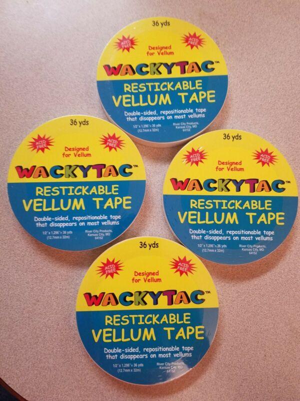 WackyTac Restickable Vellum Scrapbook Tape 4 - 36 Yard