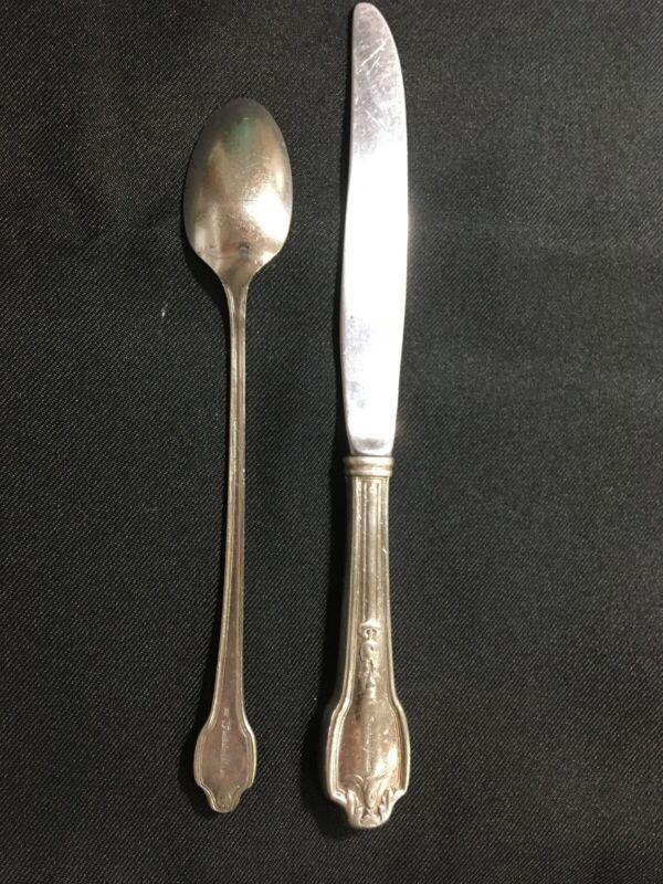 The Fontainebleau Hotel Miami Beach Vintage Tea Spoon & Knife Silverware