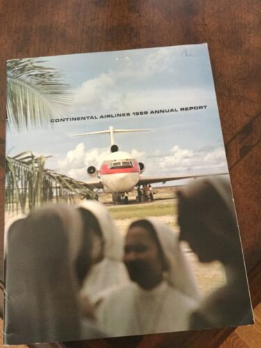 Continental Airlines 1968 annual report