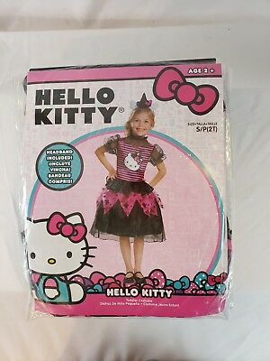 Disguise 88672S Hello Kitty Witch Classic Toddler Costume, Small - Classic Hello Kitty Kostüm
