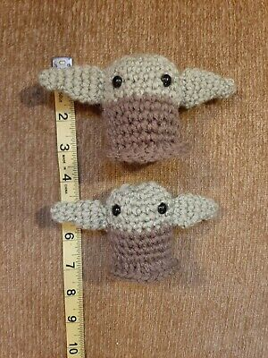 2 Baby Yoda dolls Child amigurumi crochet mini plush toy star wars cute chibi