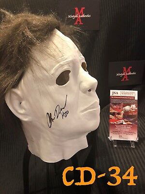 CHRIS DURAND AUTO SIGNED MASK! HALLOWEEN! MICHAEL MYERS! JSA COA! H20 HORROR!
