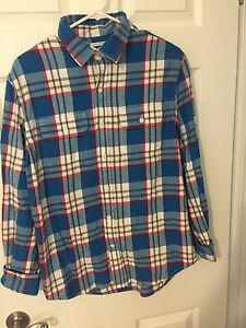 Men's Mutli Blue Flannel from Old Navy. Size M