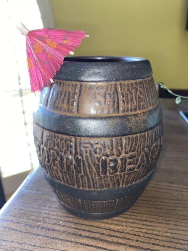 Rare Don the Beachcomber Donn Beach Tiki Mug Rum Barrel Huntington Beach