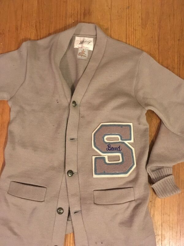 South High School letterman sweater BAND ORCHESTRA Bakersfield CA 1940s vintage