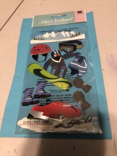 Jolees Boutique Snowboarding Scrapbooking Stickers - $1.55