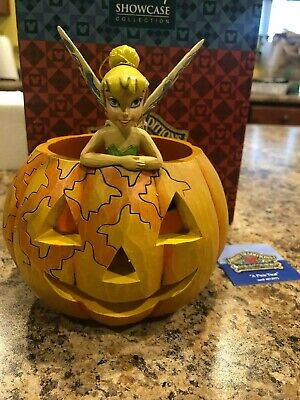 Jim Shore Disney Tinker Bell A Pixie Treat Halloween Pumpkin New Retired 4013975 - Tinkerbell Halloween Pumpkin
