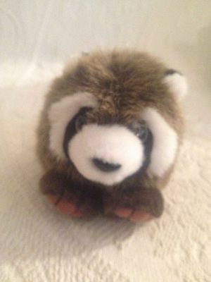 "5"" Swibco Puffkins Plush Stuffed Bandit Raccoon"
