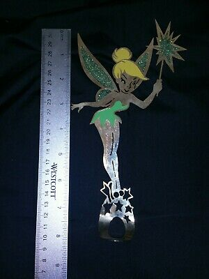 Vintage 80s Tinkerbell Tink Fairy Christmas Tree Topper Metal Disney Productions